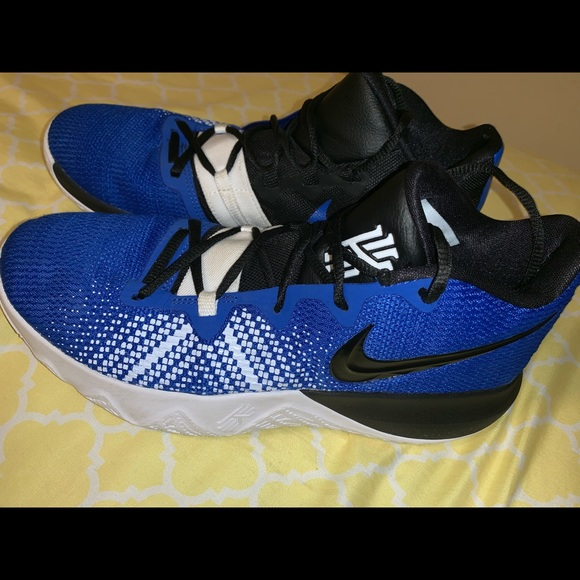 kyrie irving shoes blue and black